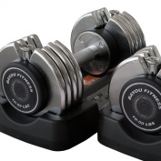Bayou Fitness Products BF-0251 Pair of 50 lb. Adjustable Dumbbells