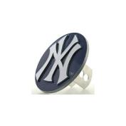 Siskiyou SportsBTHS150S Logo Cut MLB Trailer Hitch Cover- New York Yankees