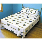 College Covers WVASSKGW West Virginia Printed Sheet Set King- White