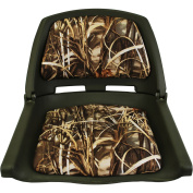 Padded Flip-Up Seat, Green Camouflage