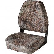 Wise High-Back Folding Boat Seat, Duck Blind Camo