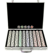 Trademark Poker 1000 11.5 Gramme 4 Aces Poker Chip Set with Aluminium Case