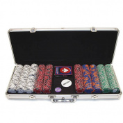 Trademark Poker 500pc 11.5g Poker Hand Chips with Aluminium Case