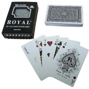 Trademark Poker One Deck, Royal Plastic Playing Cards with Star Pattern, Red