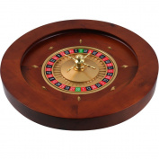 Trademark Poker 50cm Deluxe Wooden Roulette Wheel