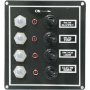 Seasense LED 4 Gang Switch Panel