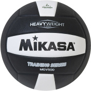 Mikasa MGV500 Heavy Weight Training Indoor Volleyball, Black/White