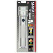 MAG Instrument Maglite LED 2D-Cell Flashlight, Silver