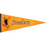 Pittsburgh Steelers Official NFL 80cm x 33cm Wool Throwback Pennant by Winning Streak