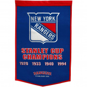 New York Rangers Official NHL 60cm x 90cm Dynasty Wool Banner Flag by Winning Streak