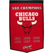 Chicago Bulls Official NBA 60cm x 90cm Dynasty Wool Banner Flag by Winning Streak