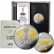 Highland Mint NFL Super Bowl XLV 24kt Gold Flip Coin