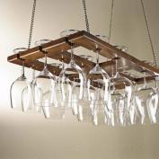 Hanging Oak Stemware Rack
