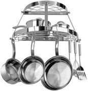 TWO SHELF WALL - MOUNT POT RACK - STAINLESS STEEL - CW6004R