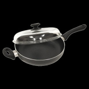 Ecolution Artistry Eco-Friendly Chicken Fryer Pan with Glass Lid - Black