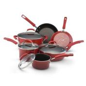 Rachael Ray Hard Enamel Nonstick Cookware Set, 10-Piece