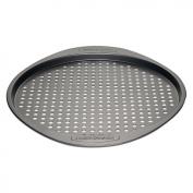 Farberware Nonstick Bakeware 33cm Round Pizza Crisper, Grey