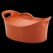 Rachael Ray 55245 Stoneware Casseroval 4.25-Quart Covered Baking Dish Orange