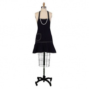 Black with Pearls Kitchen Apron