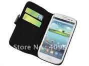 Sale  Fine Grain Leather Wallet Case For Galaxy S3 I9300