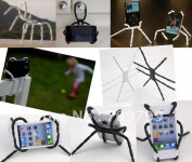 Drop Ship1pc Mutifunctioon Spider Podium Stand Holder For Iphone 4 4s For for for for for for for for for for for Samsung I9300 I9100 Digital Camera Smartphone Cradle