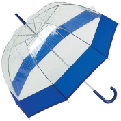 All-Weather GFUMDN42 All-Weather 42 in. Clear and Navy Blue Dome Umb