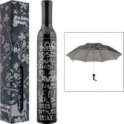 Trademark Home Wine Bottle Umbrella - Black & Silver 80-bu50