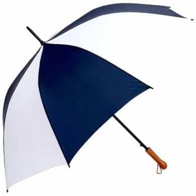 All-Weather Elite Series 60 Inch Navy and White Auto Open Golf Umbrella
