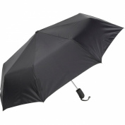 ShedRain Auto Open Mini Umbrella - Solid Colors Black - ShedRain Umbrellas and Rain Gear