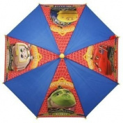 Chuggington Umbrella,Red/Blue,Chugger Pictures,Yellow Handle