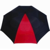 "62"" Cadie Windproof Golf Umbrella Black/Red New"