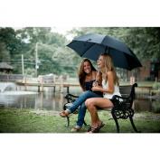 Elite Rain Classic Black Doorman Umbrella with Curved Handle