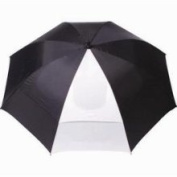 "62"" Cadie Windproof Golf Umbrella Black/White New"
