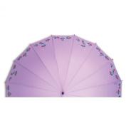 Leighton Platinum Kyoto Flyer Stick Umbrella-Light Purple