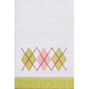 45.7cm x 68.6cm Kitchen Towel, Green Argyle