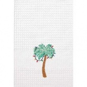 C & F Enterprises Tropical Palm Tree Christmas Lights Kitchen Towel