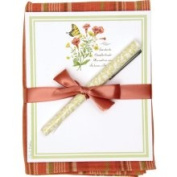 Alices Cottage AC44408 Yellow Swallowtail Kitchen Towel with Notepad