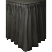 Plastic Tableskirt 14'x73.7cm 1/Pkg - Black