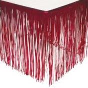 Red Fringe Table Skirt