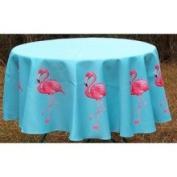 Betsy Drake Interiors Pink Flamingo Round Table Cloth Size