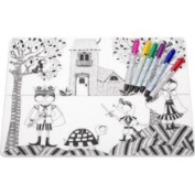 Kidz Box Hide and Seek Placemat with 6 Dry Erase Markers Modern-Twist