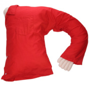 Boyfriend Pillow Red - A Comfortable Full Body Pillow Boyfriend / Husband - Pillow With Arms Provides Cosy Cuddles - Replace Your Boyfriend's Arm With A Pillow In Shining Armour - Perfect Gag Gift