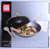 Joyce Chen 21-9972 Carbon Steel Wok Set 4 Piece