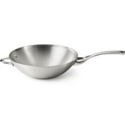 Calphalon Contemporary Stainless 33cm Flat Bottom Wok