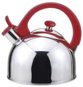 Magefesa Acacia Stainless Steel Tea Kettle W Red Bakelite Handle
