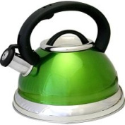 Prime Pacific PPD3001G Green Stainless Steel Whistling Tea Kettle