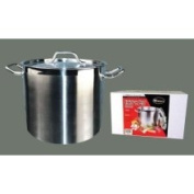 Winco Premium Stainless Steel Stock Pot w/ Cover, 7.6l