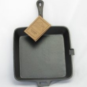 Old Mountain Pre Seasoned Cast Iron Square Skillet with Assist Handle