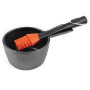 Charcoal Companion cc5099 Cast Iron Sauce Pot W/silicone Head Basting
