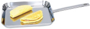 Chef's Secret. by Maxam. 27.9cm T304 High-Quality Stainless Steel Square Griddle